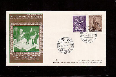 Vatican 1966 Souvenir Cover, Visit Of His Grace The Archbishop Of Canterbury !