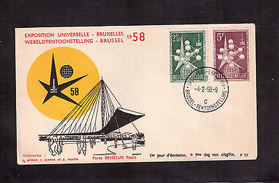 Belgium 1958 First Day Cover, World's Fair At Brussels !!