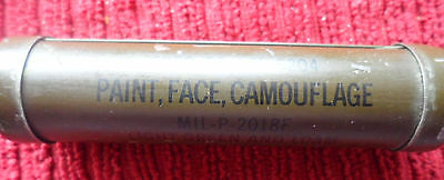 WW2 ARMY CAMOUFLAGE FACE PAINT TIN with original contents LIGHT GREEN & LOAM