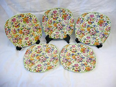 Grindley 'Cream Petal' Sandwich Plates - Buckley & Son, Plex Pottery