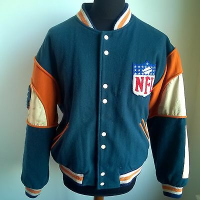 Chicago Bears 1980's Varsity Jacket Nfl Football Shirt Vintage Size Adult S