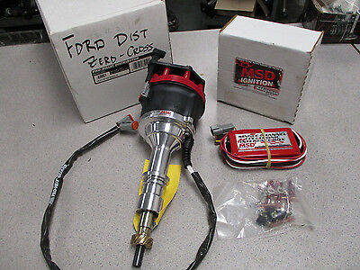 New Msd Ford Pro Billet Distributor 83951 With New 83581 Zero Cross Box