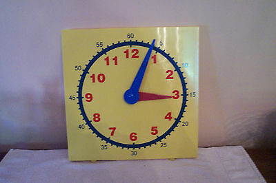 Large Teacher Edition Geared Demo Clock for Teaching Time