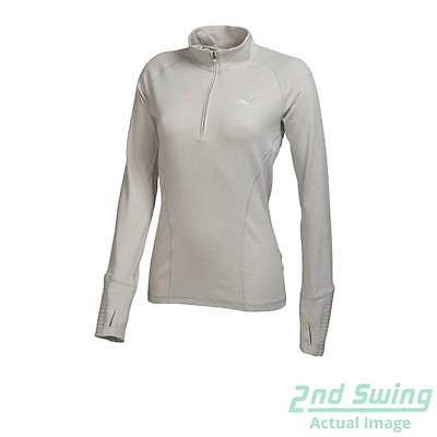 New Womens Puma Quarter Zip DC Baselayer Golf Pullover SM Gray 569077 MSRP $65