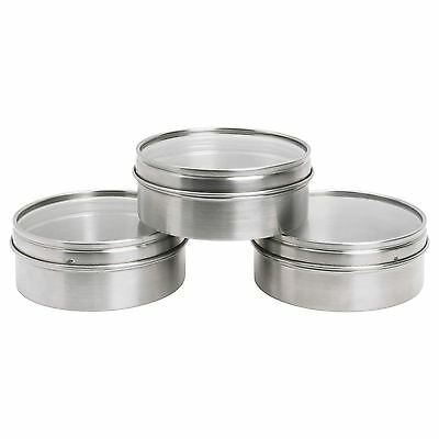 IKEA GRUNDTAL Container Stainless Magnetic Kitchen Storage Transparent Lid New