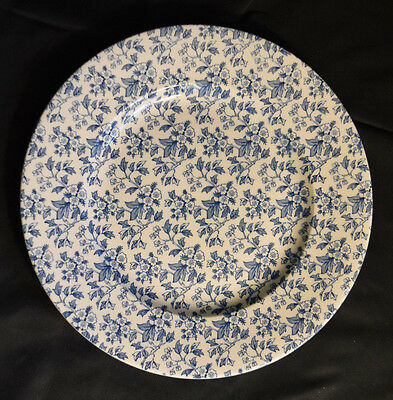Burgess & Leigh May Blossom by Lete Blue Floral Pottery Dinner Plate