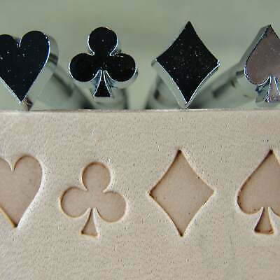 Craft Japan - Playing Card Suit Stamps (4-Piece Set, Leather Stamping Tools)