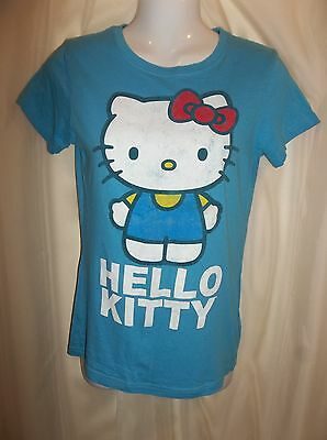 784069e7 NEW HELLO KITTY 3D face bow white red crop top Size S graphic T ...