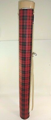 """Vintage - """"THE COOLER CHUTE"""" - Holds 6 Pack - Vertical Spring Action Tube Plaid"""