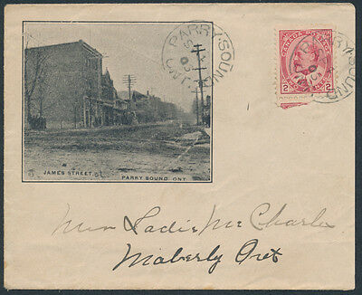 1906 James Street Parry Sound Illustrated Cover with Letterhead