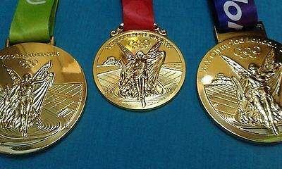 3 Piece Set Of Olympic Gold Medals  Replica Beijing 2008 London 2012 Rio 2016 UK