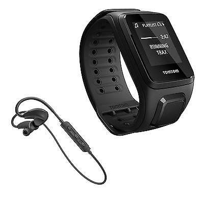 TomTom Spark GPS Multi-Sport Fitness Watch + Music & Bluetooth Headphones, Large