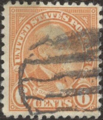 Stamps United States # 558, 6¢, 1922, lot of 1 used stamp.