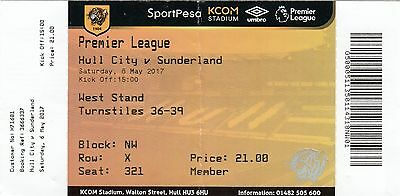 Ticket - Hull City v Sunderland 06.05.17