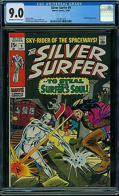 Silver Surfer 9 CGC 9.0 - OW/W Pages