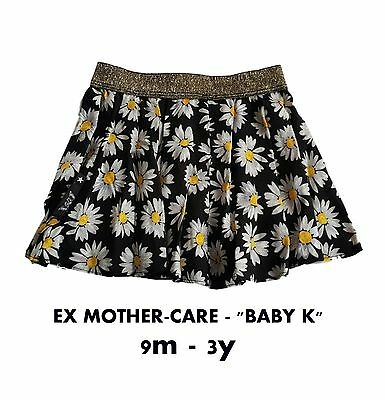 Ex Mother-care Girls Baby Skirt Mini Skirt Floral Summer BABY K 9m-3y
