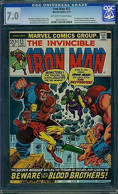 Iron Man 55 CGC 7.0 - OW/W Pages - 1st Thanos
