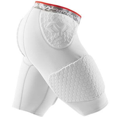 McDavid Hex Compression Short With Contoured Wrap Around Thigh Pad, White, XL
