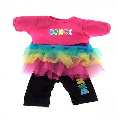 "Dance Outfit with Tutu outfit teddy bear clothes fits 15"" Build a Bear"