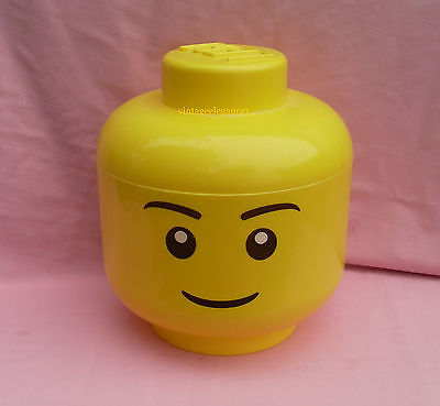 Large  - Yellow Head  - Lego Storage Container -