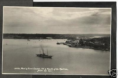 HKX Early Aerial Postcard, Mouth of the Medina River, Cowes, Isle of Wight