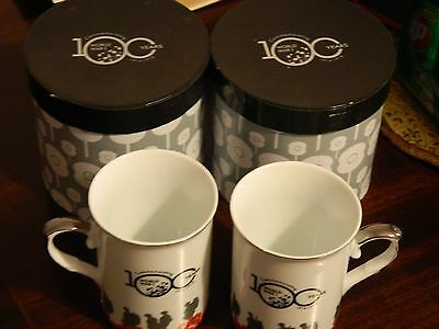 Pair Collectable Mugs Commemorating World War 1 100 Years ago:  unused in box.