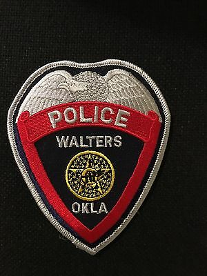 Walters Oklahoma Police  Shoulder Patch