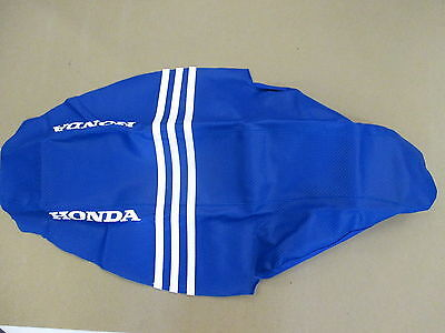 Blue ribbed Gripper Seat Cover Team Honda CRF250 CRF250R CRF250X 2004-2009