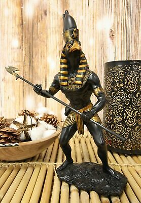 "Horus Falcon Figurine Egyptian God of The Sky & Kingship W/ Spear Figure 12""H"