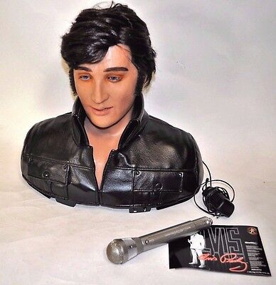WOWWEE Alive Elvis Life Size Animated robotic bust Singing Talking Robot Great!!