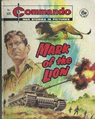Mark Of The Lion,commando War Stories In Pictures,no.608,war Comic,1971