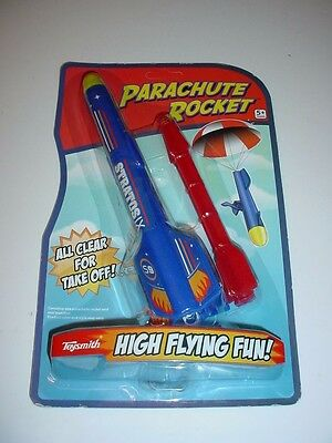 High Flying Rocket with Parachute Recovery Rubber Band Power Fun Boys Gift