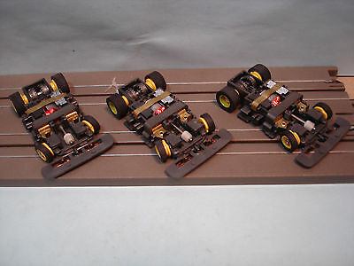 3 Tyco Tcr H.o. Scale Slotless Complete Rolling Chassis New Old Store Stock