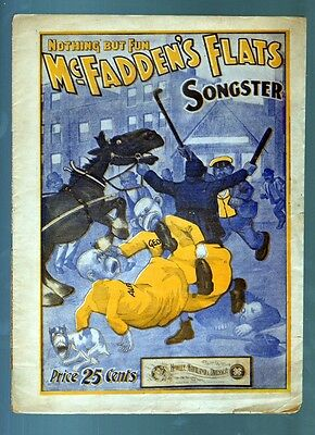 YELLOW KID McFADDEN'S FLATS SONGSTER 1902 SHEET MUSIC