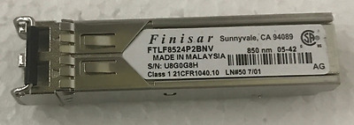 Finisar 1000BASE-SX 850nm  300M 4Gbs GBIC Transceiver FTLF8524P2BNV