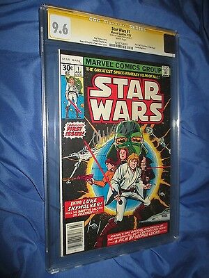 STAR WARS #1 CGC 9.6 SS Signed by Carrie Fisher/Princess Leia~MARVEL COMICS 1977
