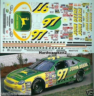 Nascar Decal #97 John Deere 1998 Ford Taurus Chad Little Slixx