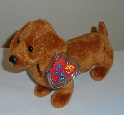 Ty 2.0 Beanie Baby ~ FRANK the Dachshund Dog ~ NEW with TAGS ~ UNUSED CODE