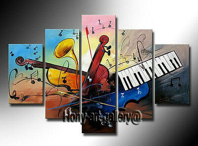 Large Framed Canvas Modern Art Wall Music Abstract OIL Painting Home Decor mus11