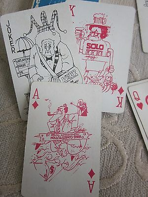 LARRY PICKERING Political Satire Whitlam Fraser Kerr era PLAYING CARDS complete