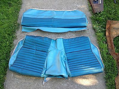 1965 1966 Ford Mustang Fastback 2+2 Rear Back Seat Covers Upper Lower Blue 65 66