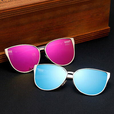 Charm Oversized Retro Women Cat Eye Sunglasses Vintage Shades Glasses Eyewear