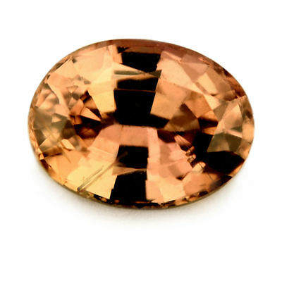 Lovely Certified Natural 0.98ct Unheated Peach Sapphire Oval Cut VS Clarity
