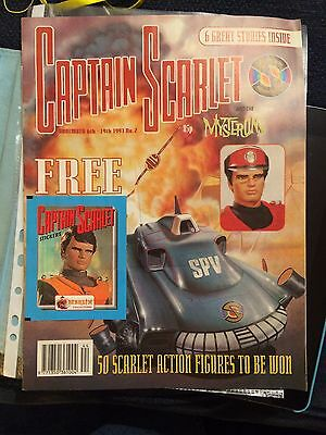 Captain Scarlet comic Fleetway # 2 Gerry Anderson with free stickers