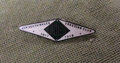 #d295.  1917-1918   Nsw  Trotting    Club  Lady  Lapel  Badge #8A