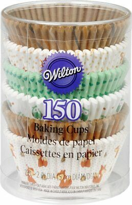 Wilton Woodland Animals Standard Cupcake Muffin Liner Party Baking Cups 150-Pack