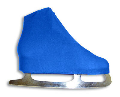 A&R Universal Figure Skate Cover Lycra Stretch Ice Skate Boot Royal Blue 10