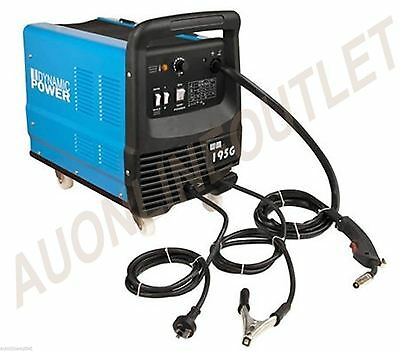 195 Amp MIG / MAG Gas / Gasless Welder Welding Machine Power Tool 15 amp Plug