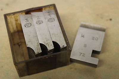 "Alfred Herbert 1/4"" x 20 Tpi BSW Coventry Die Chasers For 1"" Head CD351"