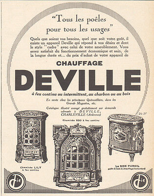 1926 Print Ad Deville Stoves Fireplace Style Cadre